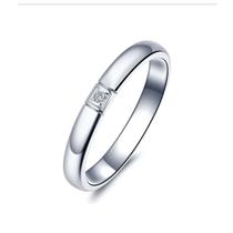 【情结】白18K金时尚情侣钻石对戒 白18K金情侣对戒