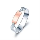 【情书】 18K双色金浪漫钻石情侣戒指
