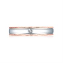 【情书】 白红18K金钻石对戒 玫瑰金情侣对戒