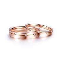 【三生三世】 玫瑰金结婚订婚对戒 玫瑰金情侣对戒