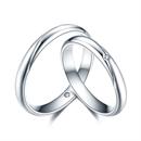 【爱的印记】 白18k金结婚订婚钻石对戒
