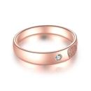 【指纹】18k玫瑰金指纹钻石对戒