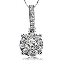【闪耀】 白18k金钻石吊坠
