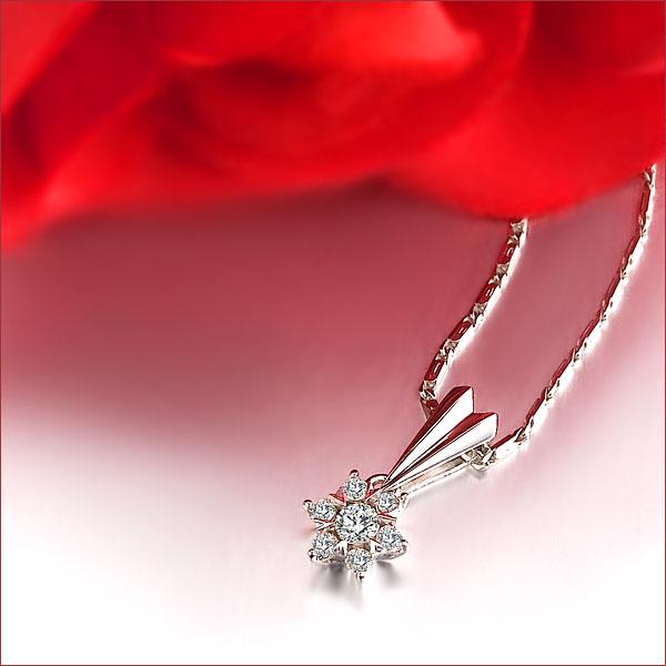 佐卡伊 灿烂的爱情-白18K金主钻8分/0.08克拉钻石女式吊坠