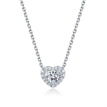 【怦然心动】 白18K金40分/0.4克拉钻石女士吊坠