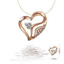 【心叶】 8分/0.08克拉玫瑰金钻石吊坠