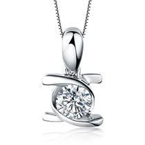 【拥爱】 白18k金VG钻石吊坠