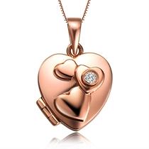 【爱的许愿盒】 2.5分/0.025克拉玫瑰金钻石吊坠