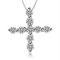 【誓言 】 白18k金1.2分/0.012克拉钻石吊坠