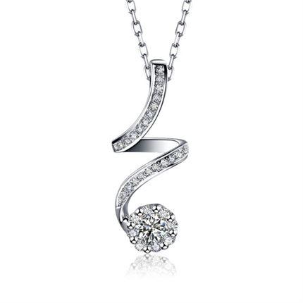 【闪耀轨迹】 白18k金10分/0.1克拉钻石吊坠