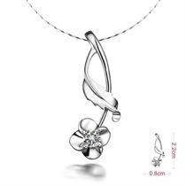 【清花令】 白18k金11分/0.11克拉钻石吊坠
