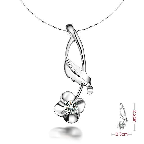 佐卡伊 清花令-白18K金11分/0.11克拉钻石女式吊坠