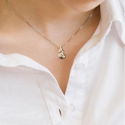金葫芦-18K玫瑰金女式钻石吊坠