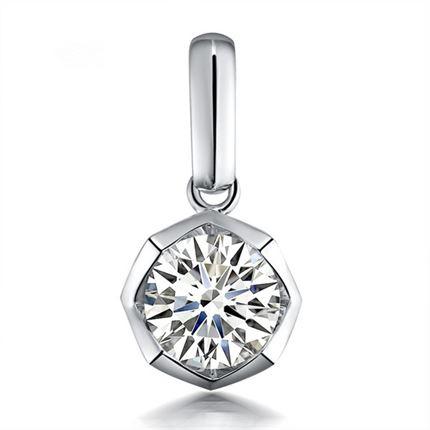 【玲珑】 白18k金100分/1克拉钻石吊坠
