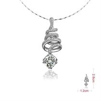 【许愿】 白18k金100分/1克拉钻石吊坠