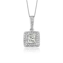 【璀璨闪烁】 白18k金100分/1克拉钻石吊坠