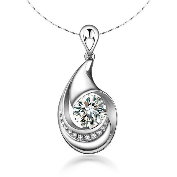 》》点击进入【月之爱】 PT950铂金105分/1.05克拉钻石吊坠