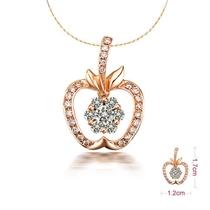 【苹果系列】 玫瑰金钻石吊坠