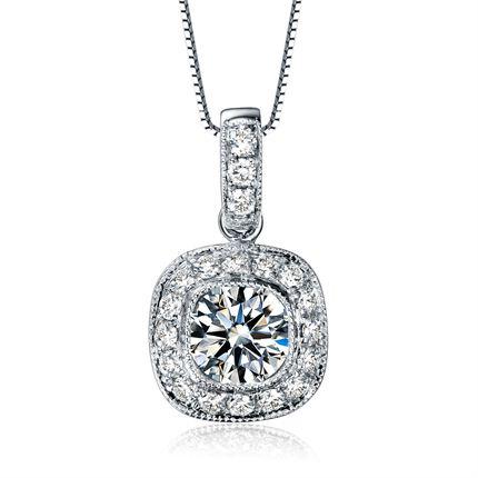 【金华】 白18K金钻石吊坠