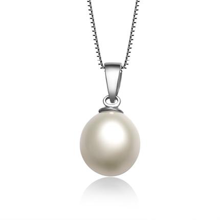 【怡人】 天然水滴型珍珠吊坠