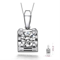 【风华】 PT950铂金钻石吊坠