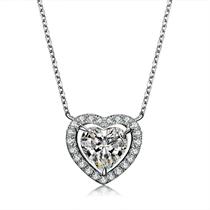 【浪漫的心】系列 白18k金心形豪华钻石吊坠