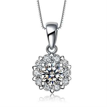 【触电】系列 白18k金钻石吊坠