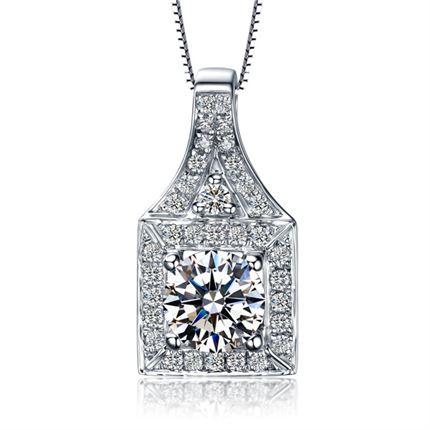 【爱在巴黎系列】 白18K金女士钻石吊坠