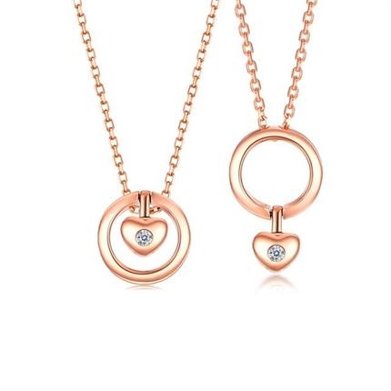 【魔法吊坠】 玫瑰18K金一款多戴钻石宝石吊坠