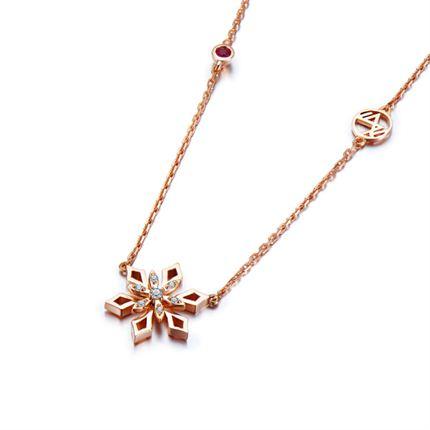 【初雪】系列产品 18k金钻石吊坠