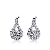 【触动的爱】系列 白18K金钻石女士耳钉