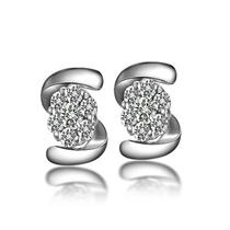 【缠绵】 白18k金27分/0.27克拉钻石耳钉