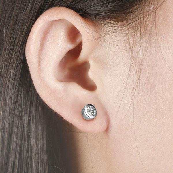 白18K金钻石0.2克拉钻石女士耳钉  简爱
