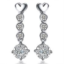 【华丽】 白18k金4分/0.04克拉钻石耳环
