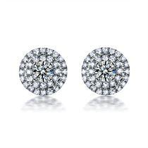 【星空】 白18K金20分/0.20克拉钻石耳钉