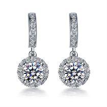 【闪耀】系列 白18K金60分/0.6克拉钻石女士耳环