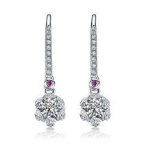 【初雪】系列 白18K钻石耳环