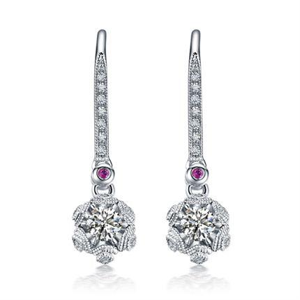 【初雪】系列产品 白18K钻石耳环