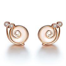 玫瑰18K金鉆石女款耳釘