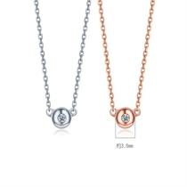 【波点】 18k金简约时尚钻石吊坠