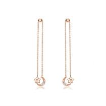 【繁星】 玫瑰18K金时尚钻石耳坠耳环