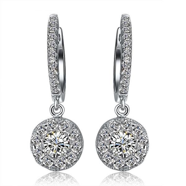 白18K金钻石44分/0.44克拉钻石女士耳钉-璀璨星耀