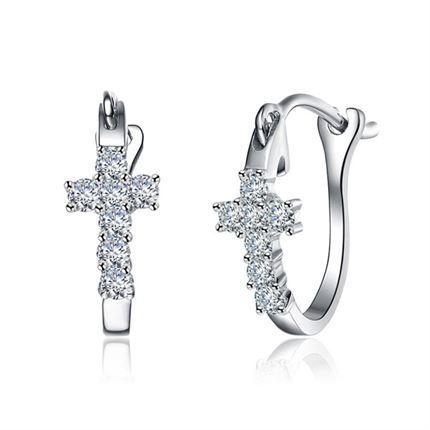 【爱的祈祷】 白18k金0.21 克拉钻石耳环