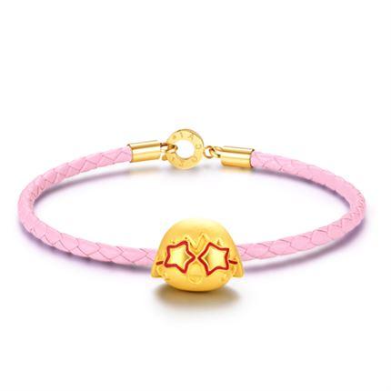 【黄金小丸子】系列 3D硬金手链足金转运珠手链女款