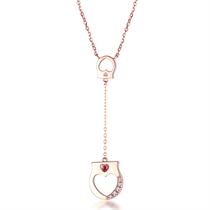 【手铐系列】 玫瑰18k金手铐设计女款项链吊坠