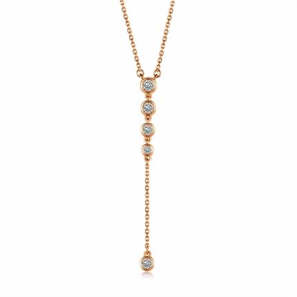 【波点】系列 18K金女士钻石吊坠