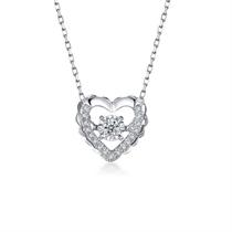 【灵动】白18k金钻石吊坠 白18K金6分/0.06克拉钻石女士