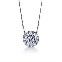 【永恒摩天轮】 白18K金女款钻石吊坠