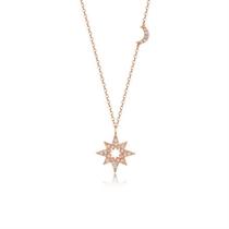 【星月之夜】 玫瑰18K金时尚钻石吊坠