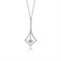 【灵动】 白18k金女士钻石吊坠